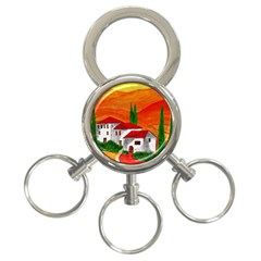 Mediteran 3 Ring Key Chain by Siebenhuehner