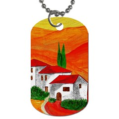 Mediteran Dog Tag (two Sided)  by Siebenhuehner