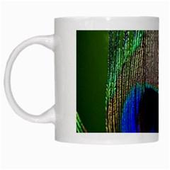 Peacock White Coffee Mug by Siebenhuehner