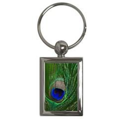 Peacock Key Chain (rectangle) by Siebenhuehner