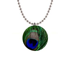 Peacock Button Necklace by Siebenhuehner
