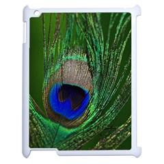 Peacock Apple Ipad 2 Case (white) by Siebenhuehner