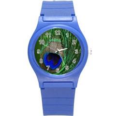 Peacock Plastic Sport Watch (small) by Siebenhuehner