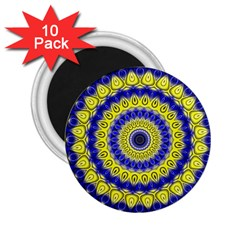 Mandala 2 25  Button Magnet (10 Pack) by Siebenhuehner