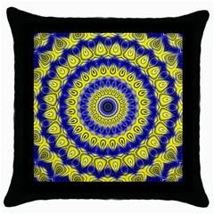 Mandala Black Throw Pillow Case by Siebenhuehner