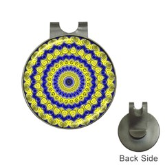 Mandala Hat Clip With Golf Ball Marker