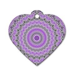 Mandala Dog Tag Heart (two Sided) by Siebenhuehner