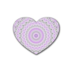 Mandala Drink Coasters 4 Pack (heart)  by Siebenhuehner