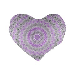 Mandala 16  Premium Heart Shape Cushion  by Siebenhuehner