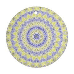 Mandala Round Ornament by Siebenhuehner
