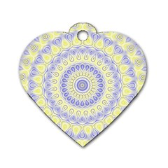 Mandala Dog Tag Heart (two Sided) by Siebenhuehner