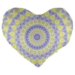 Mandala 19  Premium Heart Shape Cushion by Siebenhuehner