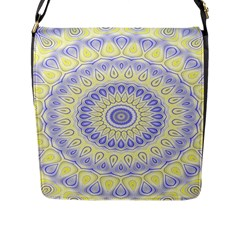 Mandala Flap Closure Messenger Bag (large) by Siebenhuehner