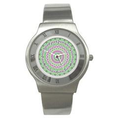 Mandala Stainless Steel Watch (slim)