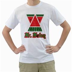 Mr  Melon Mens  T Shirt (white)
