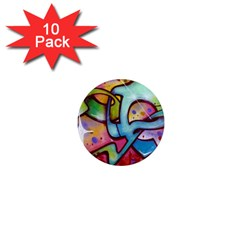 Graffity 1  Mini Button Magnet (10 Pack) by Siebenhuehner