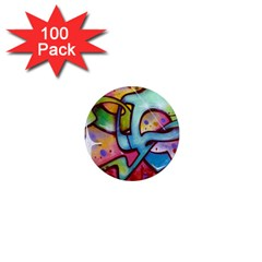 Graffity 1  Mini Button Magnet (100 Pack) by Siebenhuehner