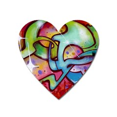 Graffity Magnet (heart) by Siebenhuehner