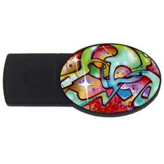 Graffity 2gb Usb Flash Drive (oval) by Siebenhuehner