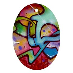 Graffity Oval Ornament (two Sides) by Siebenhuehner