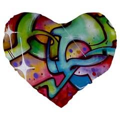 Graffity 19  Premium Heart Shape Cushion by Siebenhuehner