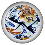 Graffity Wall Clock (Silver) Front