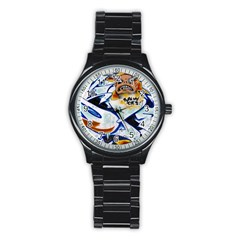 Graffity Sport Metal Watch (black) by Siebenhuehner