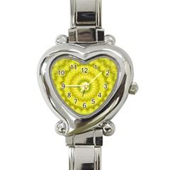 Mandala Heart Italian Charm Watch  by Siebenhuehner