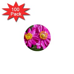Flower 1  Mini Button Magnet (100 Pack) by Siebenhuehner