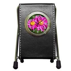 Flower Stationery Holder Clock by Siebenhuehner