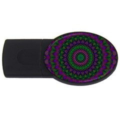 Mandala 2gb Usb Flash Drive (oval) by Siebenhuehner