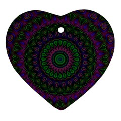 Mandala Heart Ornament (two Sides) by Siebenhuehner