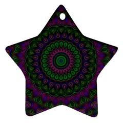 Mandala Star Ornament (two Sides) by Siebenhuehner