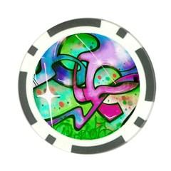 Graffity Poker Chip (10 Pack) by Siebenhuehner