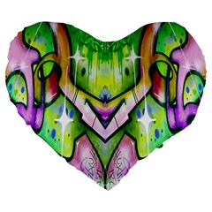 Graffity 19  Premium Heart Shape Cushion by Siebenhuehner
