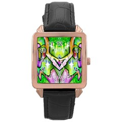 Graffity Rose Gold Leather Watch  by Siebenhuehner