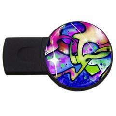 Graffity 2gb Usb Flash Drive (round)