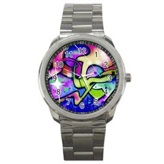 Graffity Sport Metal Watch by Siebenhuehner