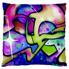 Graffity Large Cushion Case (two Sided)  by Siebenhuehner