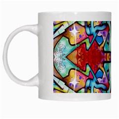 Graffity White Coffee Mug by Siebenhuehner