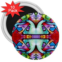Graffity 3  Button Magnet (10 Pack) by Siebenhuehner