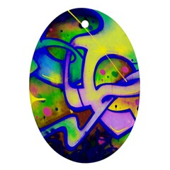 Graffity Oval Ornament by Siebenhuehner