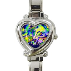 Graffity Heart Italian Charm Watch  by Siebenhuehner
