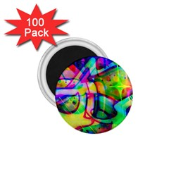 Graffity 1 75  Button Magnet (100 Pack) by Siebenhuehner
