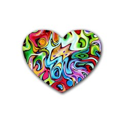 Graffity Drink Coasters 4 Pack (heart)  by Siebenhuehner