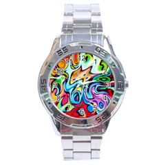 Graffity Stainless Steel Watch by Siebenhuehner