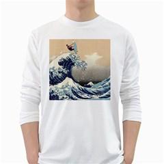 Surferthebigwave Mens' Long Sleeve T-shirt (White) by Contest1778683