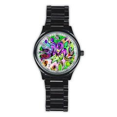Graffity Sport Metal Watch (black) by Siebenhuehner