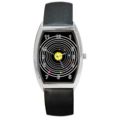 Solar System Tonneau Leather Watch by PaolAllen2