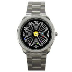 Solar System Sport Metal Watch by PaolAllen2